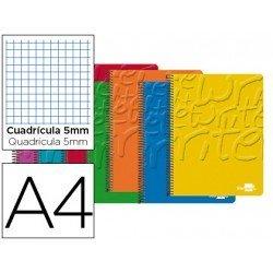 Bloc Din A4 espiral Microperforado CON CUATRO TALADROS O AGUJEROS.Tapa cartoncillo impreso serie Classic Liderpapel