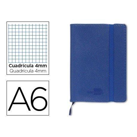 Cuaderno Liderpapel Din A6 encolada 120 hojas Tapa simil piel