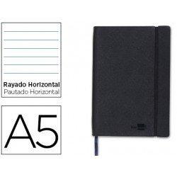 Cuaderno Liderpapel Din A5 encolado Tapa simil piel