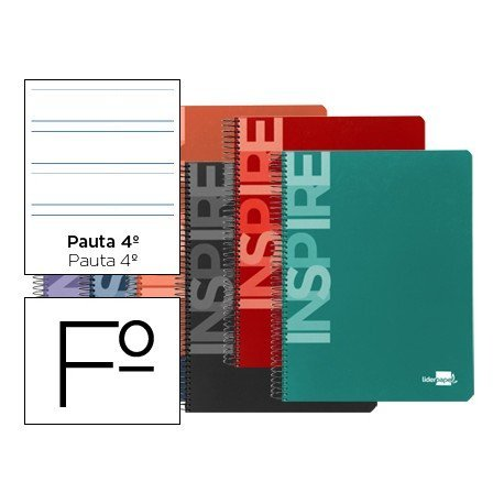 Bloc marca Liderpapel Inspire tapa extradura pauta 3.5 mm
