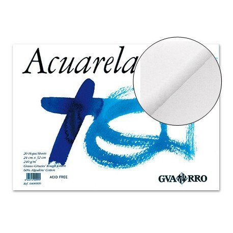 Bloc de dibujo marca Guarro Acuarela encolado din a4
