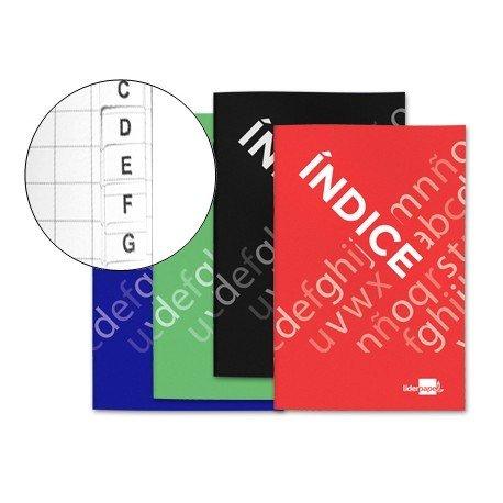 Libreta Liderpapel Indice Flexible 24 hojas