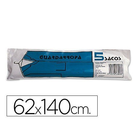 Saco guardarropa de 62x140 cm