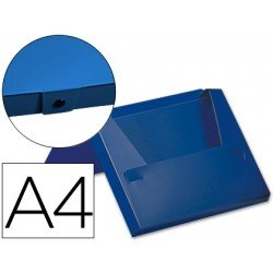Carpeta lomo rigido con broche Beautone Din A4 color azul
