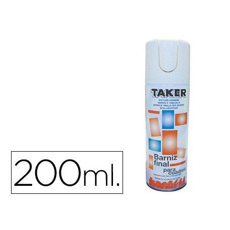 Barniz spray para oleo Taker