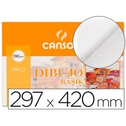 Papel dibujo marca Canson lamina lisa 297x420 mm 130 g/m2