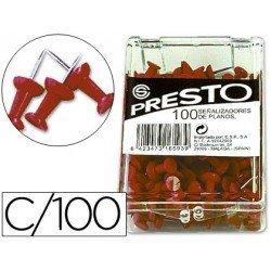Señalizadores de planos rojo Presto