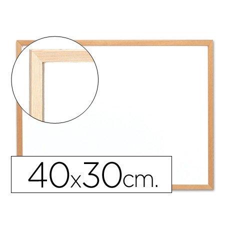 Pizarra Blanca de Melamina con marco de madera 40x30 Q-Connect