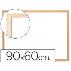 Pizarra Blanca de Melamina con marco de madera 90x60 Q-Connect