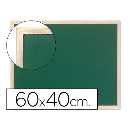 Pizarra Q-Connect verde marco de madera 60x40 cm