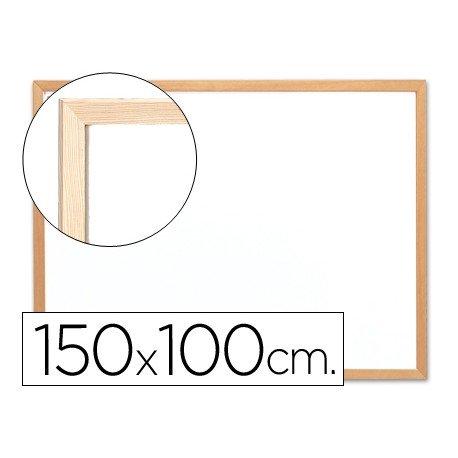 Pizarra Blanca laminada con marco de madera 150x100 Q-Connect