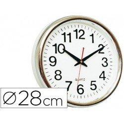 Reloj de pared plastico 30 cm marco color dorado