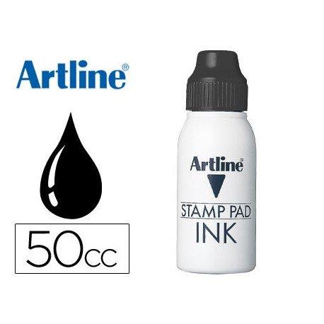 Tinta tampon marca Artline negro de 50 cc