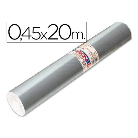 Aironfix Rollo Adhesivo 45cm x 20mt Especial Color Plata 100 MC