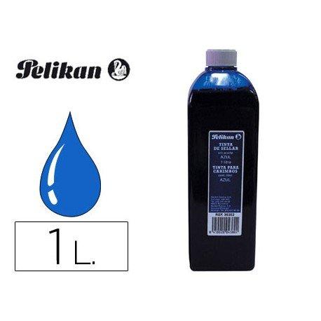 Tinta tampon PELIKAN Azul de 1 litro