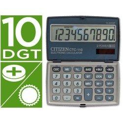 Calculadora Bolsillo Citizen Modelo CTC-110WB 10 dígitos