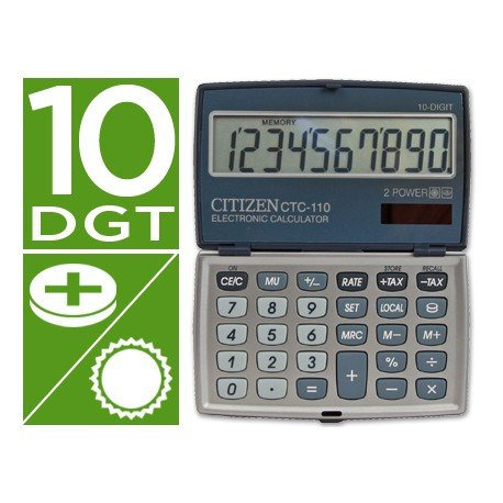 Calculadora Bolsillo Citizen Modelo CTC-110WB 10 dígitos