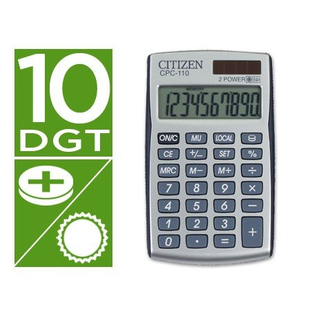 Calculadora Bolsillo Citizen Modelo CPC-110 10 digitos