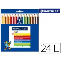Lapices de colores Staedtler modelo Noris Club triangulares 24 lapices finos