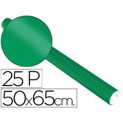 Papel metalizado Sadipal rollo 25 pliegos verde 65g/m2 medidas 50x16,25 m