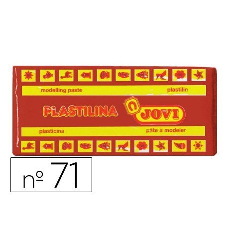 Plastilina Jovi color marron mediano