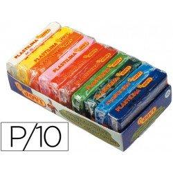 Plastilina Jovi colores surtidos pequeña Paquete 10 colores