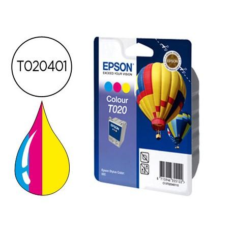 Cartucho Epson T020401 Tricolor