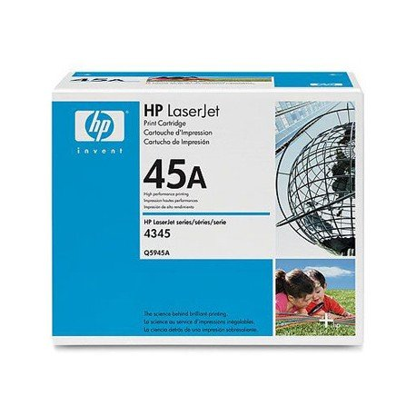 Toner HP 45A Q5945A color Negro