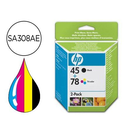 Cartucho 45+78 Tricolor + Negro HP SA308AE