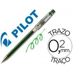 Boligrafo marca Pilot punta aguja g-tec-c4 verde