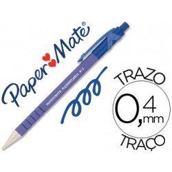 Boligrafo marca Papermate Flexgrip azul 0,4 mm