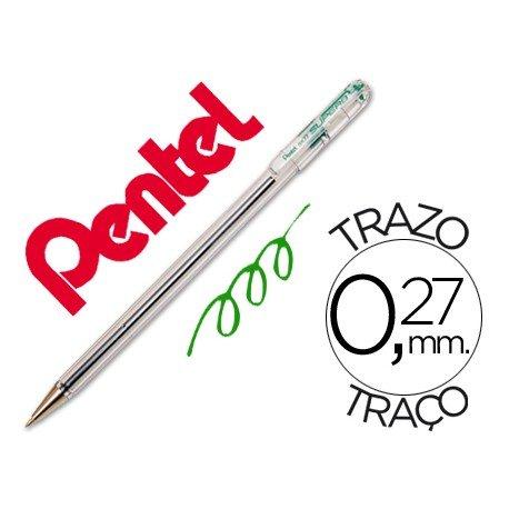 Boligrafo Pentel BK-77 verde 0,27 mm