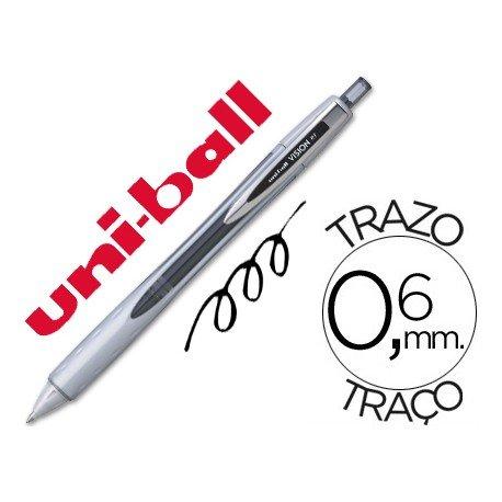 Boligrafo roller Uni-ball Vision RT color negro 0,6 mm