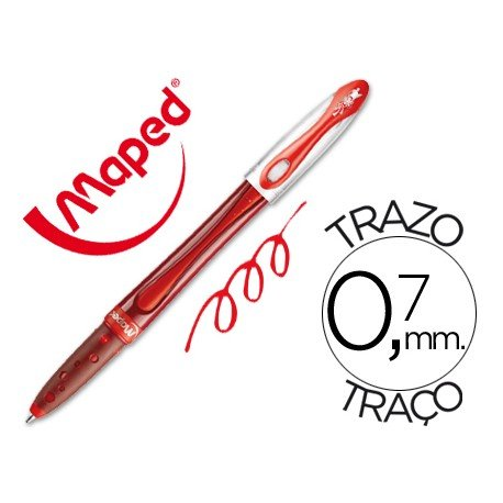 Boligrafo Maped Freewriter Medium rojo 0,7 mm