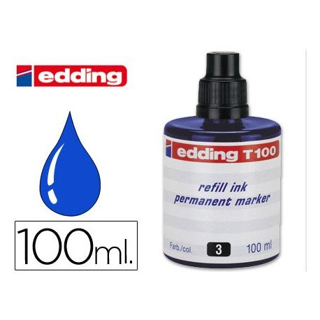 Tinta permanente rotulador Edding T-100 color azul