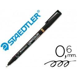 Rotulador Retroproyección Permanente Staedtler Lumocolor 318 Color Negro Punta Superfina Redonda