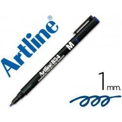 Rotulador retroproyección Artline EK-854 Permanente Color Azul Punta Redonda