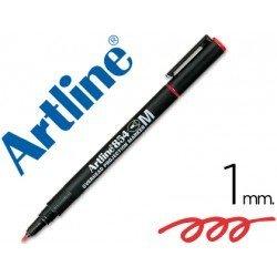 Rotulador retroproyección Artline EK-854 Permanente Color Rojo Punta Redonda