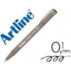 Rotulador Artline calibrado micrometrico negro de 0,1 mm
