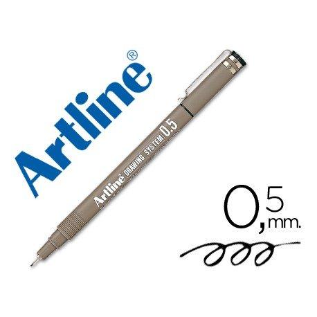 Rotulador Artline calibrado micrometrico negro de 0,5 mm