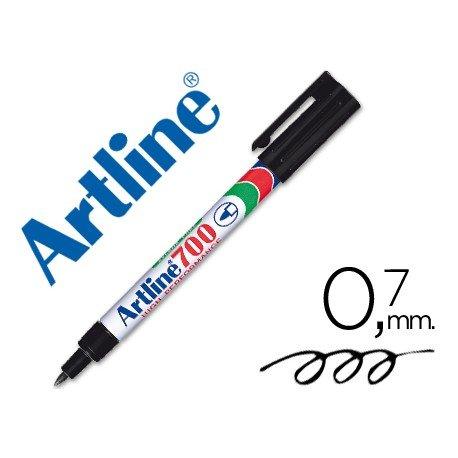 Rotulador Permanente Artline EK-700 Color Negro Punta redonda