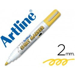 Rotulador para tela textil Artline color amarillo