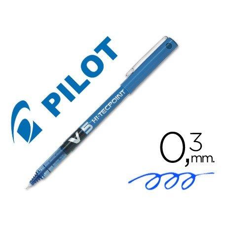 Rotulador Pilot V-5 Trazo 0,3 mm Azul