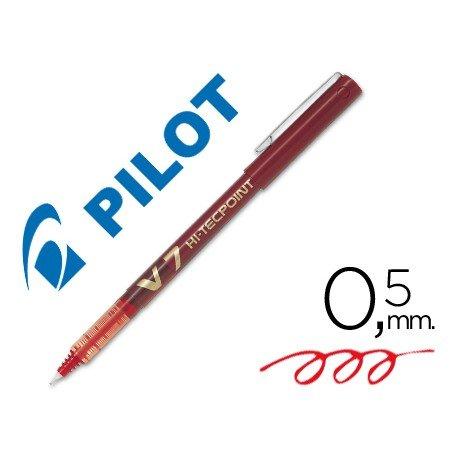 Rotulador Pilot V-7 Trazo 0,5 mm Rojo