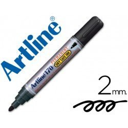 Rotulador Permanente Artline 170 color Negro Punta Redonda