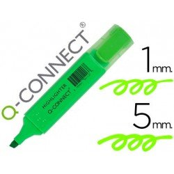 Rotulador fluorescente Q-Connect verde