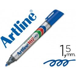 Rotulador Permanente Artline 107 color Azul Punta Redonda