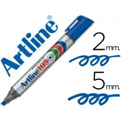 Rotulador Permanente Artline 109 color Azul Punta Biselada