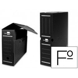 Cajas de archivo definitivo Liderpapel negro folio