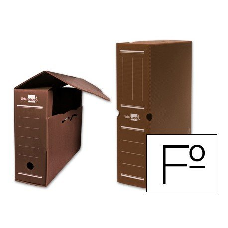 Cajas de archivo definitivo Liderpapel marron folio